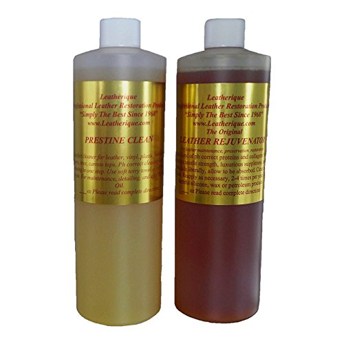 Leatherique 16 oz. Leather Rejuvenator/ Prestine Clean Basic Pair