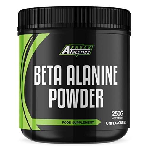 Beta Alanine Powder 250g by Freak Athletics - Premium Beta Alanine Supplement for Strength & Endurance - Suitable for Men & Women - UK Made