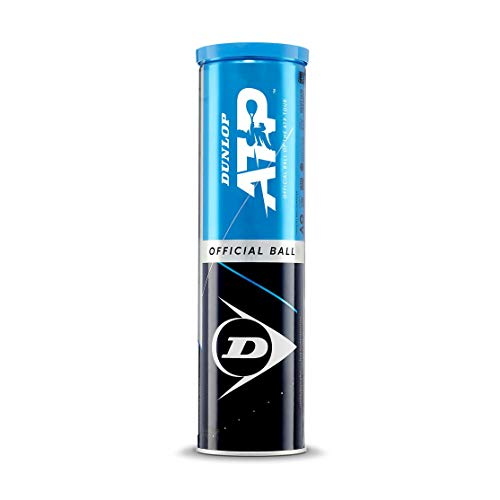 Dunlop - ATP - Tennisbälle - Unisex – Erwachsene - Gelb - Dose mit 4 Bällen