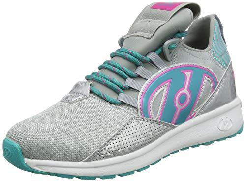Heelys Damen Bandit Hohe Sneaker, Silber (Grey/Aqua/Hot Pink Grey/Aqua/Hot Pink), 36.5 EU