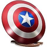 FYHCY 24 '' Capitán América Letrero de Metal Barra aleación Aluminio Escudo Decoraciones para Colgar en Pared Escudo Capitán América con Soporte Madera Escudo 1: 1 Serie Leyendas Accesorios película