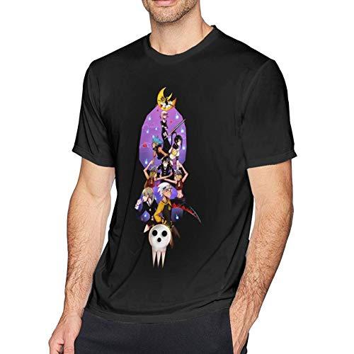 XCNGG Camiseta de Manga Corta Soul Eater para Hombre