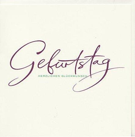 Exklusive Geburtstagskarte Kalligraphie