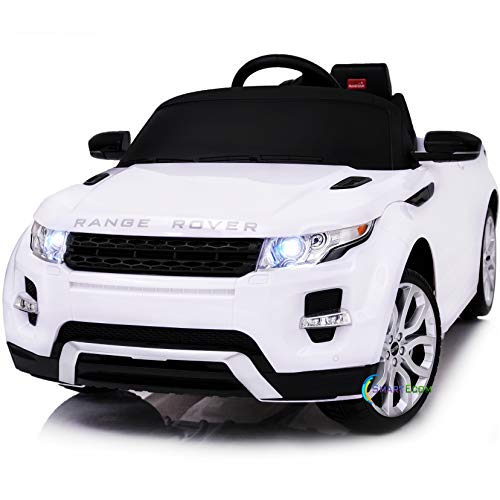 Americas Toys Compatible with Rastar Range Rover Ride On Car with Remote Control - Electric 12V Battery Powered Car for Kid w/ Plastic wheels, Seat Belt, Headlight, MP3 Music and Horn White