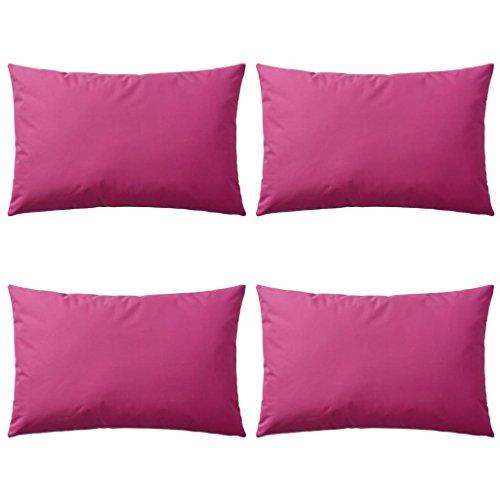 vidaXL 4X Cojines para Exteriores 60x40cm Rosa Decoración Casa y Jardin Hogar