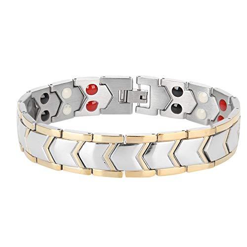 Pulseras Magneticas Titanio, Pulsera Magnetica para Adelgazar Ajustable, Joyería para el Cuidado de la Salud, Brazalete de Sueño Mejorado