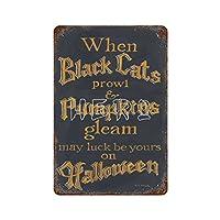 黒猫PUMMPKINSブリキ看板ヴィンテージ錫のサイン警告注意サインートポスター安全標識警告装飾金属安全サイン面白いの個性情報サイン金属板鉄の絵表示パネル