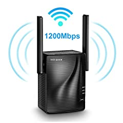 【Stable signal boosts】- with dual band technology, This Wi-Fi range extender can automatically choose high-quality band for better performance. It offers up to 300Mbps for 2.4GHz and 867Mbps for 5GHz. Totally 1167Mbps is available for your use, maxim...