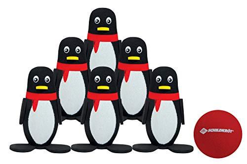 Schildkröt Pinguin Soft Bowling Set, Kegelset, Indoor- und Outdoor, bestehend aus 6 Pinguinen mit stabilem Stand und einer Soft-Bowling-Kugel, 970303