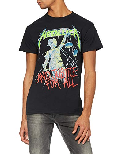 T-Shirt # S Unisex Black # and Justice for All (Original)