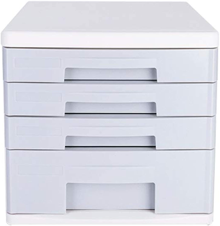 Desktop File Cabinets White Data Sorting Box Storage Box Storage Box Plastic Drawer Type Storage Box Cabinet Four Floors Stationery Box Office Supplies anQna