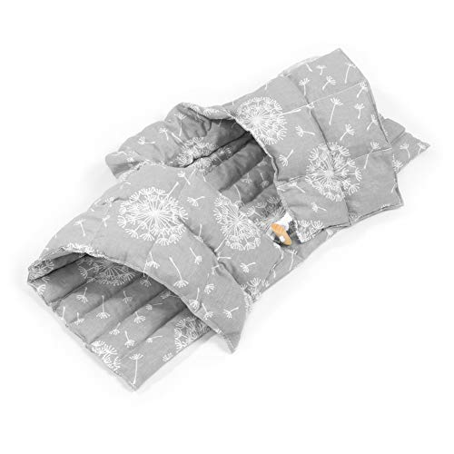 Amilian Cuscino termico per collo con schienale e collo alto per collo, cuscino termico con noccioli di ciliegia, cuscino termico per cervicale, cuscino termico a forma di leone, colore grigio