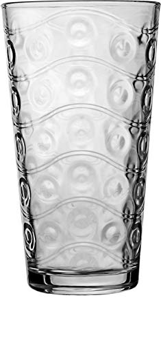 Circleware Cosmo Set of 4 Heavy Base Highball Drinking Glasses Tumblers, Ice Tea Beverage Cups...