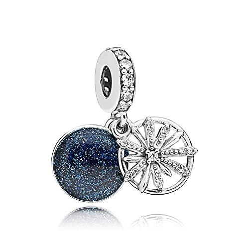 Pandora 925 cuentas de plata esterlina deslumbrantes deseos colgante encanto apto para mujeres de moda Bangle diy amor joyería