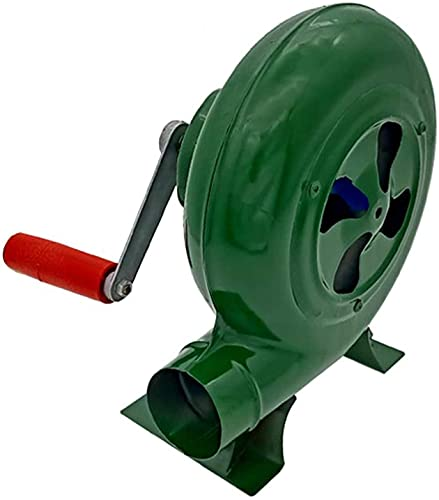 TYSJL Mano de manivela Blacksmith Forge Blower Popcorn Fan Ventilador Manual, para Acampar/Picnic/al Aire Libre, Gran Parrilla Accesorios Regalo (Size : 80W)