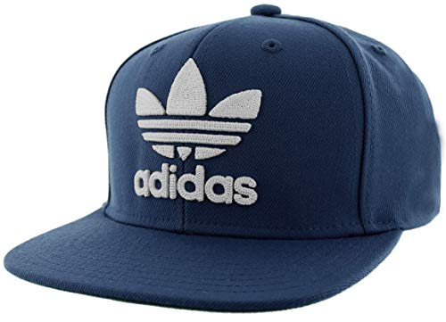 adidas Originals Youth Kids-Boy's/Girl's Boy's Trefoil Chain Snapback Cap, Collegiate Navy/White, ONE SIZE