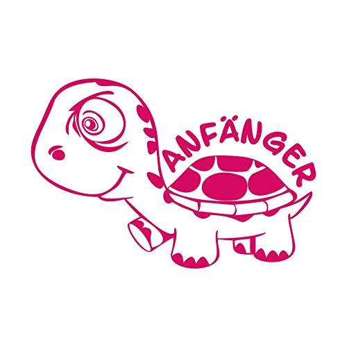 Folistick Anfänger Turtle Schildkröte Aufkleber Autotattoo Autoaufkleber Ausführung Links (PINK)