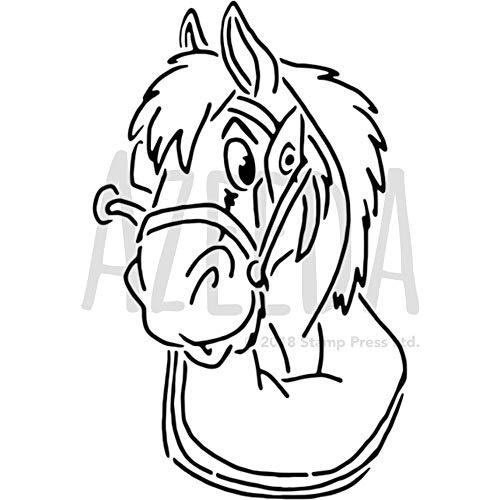 Azeeda A5 'Pferdekopf' Wandschablone / Vorlage (WS00002986)