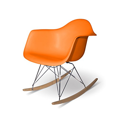 Aryana Schaukelstuhl Home Replica Eames orange