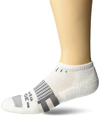 thorlos Unisex-Erwachsene Edge Court Low Cut Socks Tennissocken, Weiß, Medium