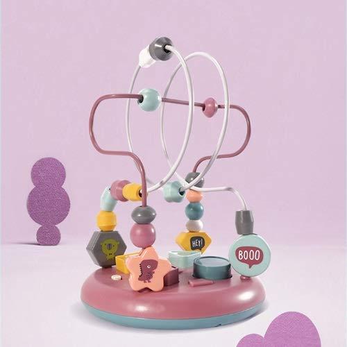 Lihgfw Säuglings-Kinderperlen-Perlen-Spielzeug, Jungen und Mädchen, Babys 6-12 Monate, Erleuchtung, frühe Bildung, Intelligenz Spielzeug 17cm (Color : Purple)