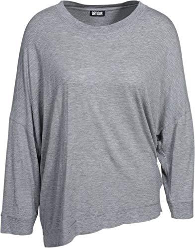 Drykorn Damen Shirt Oriama mit Glitzerfäden in Grau M