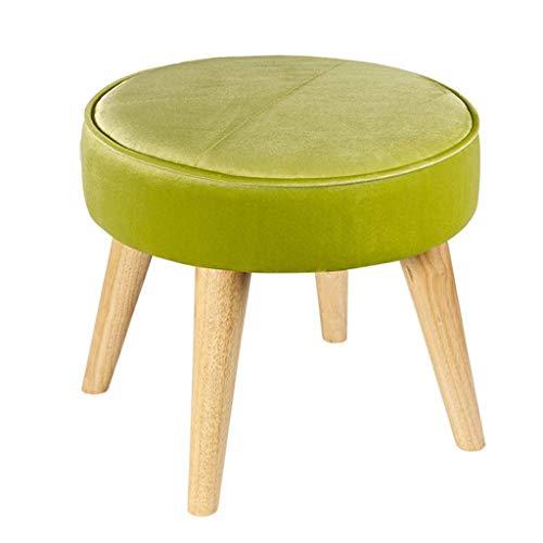 YLCJ voetensteun, gevoerd, modieus, kruk, met wisselschoen, max. 150 kg, zitvlak 40 x 40 x 36 cm (kleur: oranje). Groen