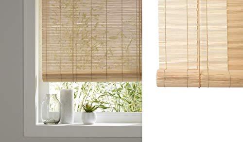 TIENDA EURASIA Estores - Persiana de Bambú Interior, Ventanas y Puertas (Natural, 60 x 140 cm)