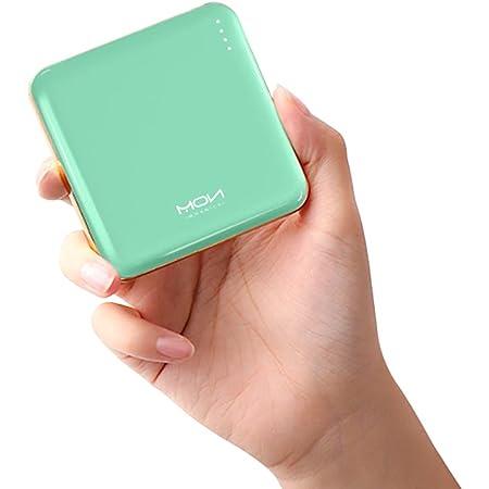 モバイルバッテリー 小型 軽量 薄型 MOXNICE 10000mah 大容量 2USBポート 急速充電 コンパクト 携帯充電器 PSE認証済 iPhone&Android各種対応 (グリーン)