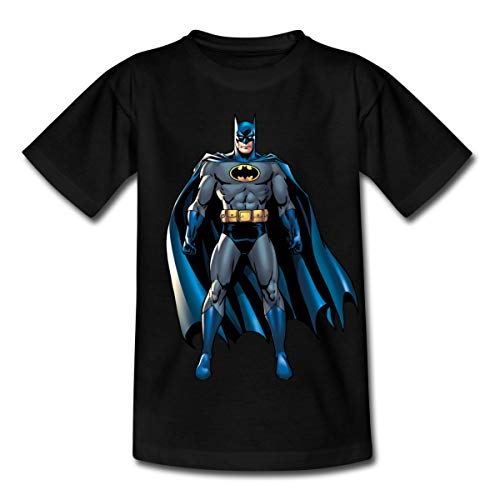 Spreadshirt DC Comics Batman Pose Klassisch Kinder T-Shirt, 122-128, Schwarz