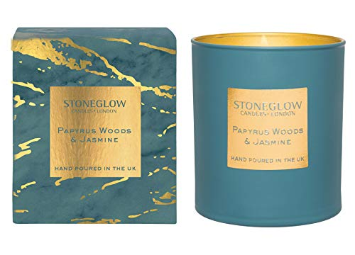 Stoneglow Luna Collection Papyrus Woods & Jasmine (Candle 40 Hours Burn Time)