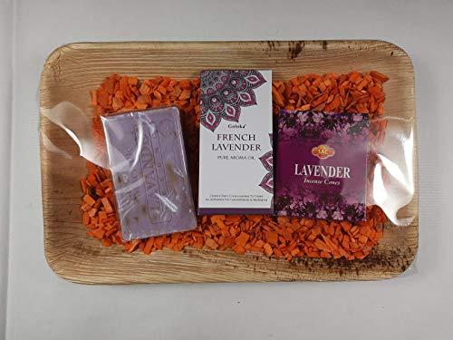 Pak badkamer aromatherapie lavendel (zeep + etherische olie + rookkaarsen)
