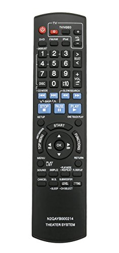 New N2QAYB000214 Replace Remote fit for Panasonic SC-PT760 SC-PT954 SAPT1054 SAPT760 SAPT954 SAPT956 SCPT1054 SC-PT956 SC-PT960 DVD Home Theater Sound System SA-PT1054 SA-PT760 SA-PT954 SA-PT956