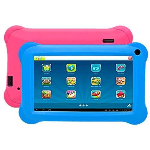 Tablet denver 10.1pulgadas taq - 10473kbluepink - WiFi - 0.3 mpx - 16gb ROM - 2gb ram - 4400 mah para niños + Fundas Azul y Ros