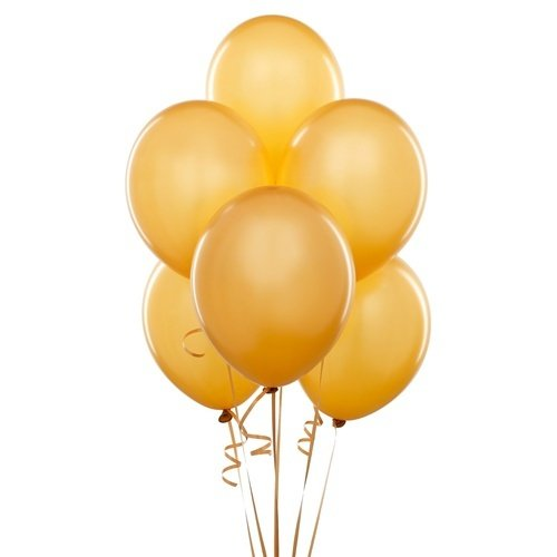 Homeford Premium Latex Balloons Plain Color, 12-Inch, Gold, 12-Pack