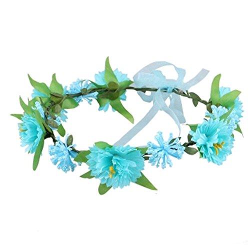 Sch?ne Handcrafted Haar Crown Kopfbedeckung Meer Blumen Kranz, Blau