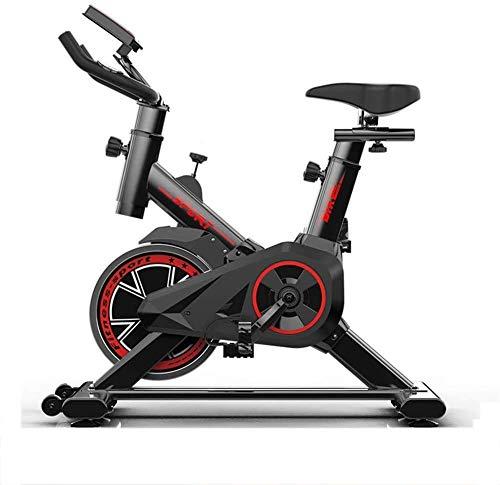 WGFGXQ Trasmissione a Cinghia silenziosa Fitness Bike Feltro Resistenza Lana Cardio Magnetico Cardio Frequenza cardiaca Spin Bike per Famiglia Palestra ECC 85x45x102cm