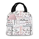 Portable Lunch Tote Bag Cute Christian Fruit of The Spirit Butterflies Lunch Bag Insulated Cooler Thermal Reusable Bag Lunch Box Handbag Bags for Women/Picnic/Boating/Beach/Fishing/Work