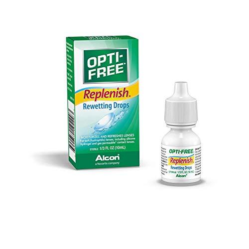 Opti-Free Replenish Rewetting Drops, 0.33 Fl Oz (10 Ml) (Pack Of 3) by Opti-Free