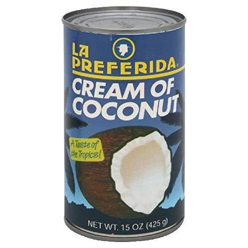La Preferida Drink Mix Cream of Coconut, 15-Ounce. (Pack of 6)