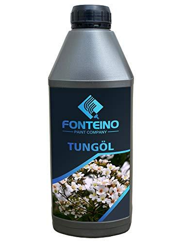 Tungöl Tung Oil Chinaöl Holzöl Pflegeöl Holzschutz Möbelöl Bangkiraiöl Holz ölen Innen Außen farblos 1L