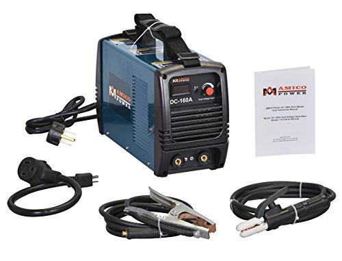 Amico Amico Power Dc160A 160 Amp Stick Arc Dc Welder 115/230V Dual Voltage Welding Soldering Machine