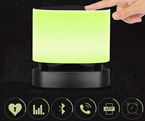 Alarm Clock Wake Up Light USB Charger Dimmable Snooze Function Temperature and Humidity Display Touch Control