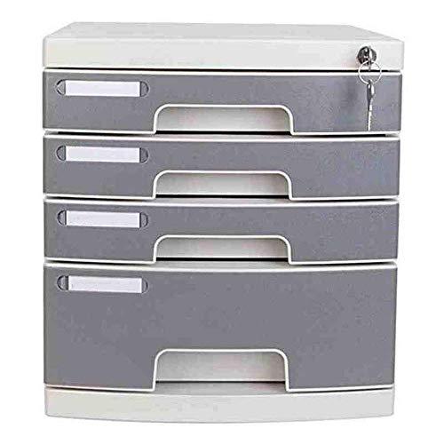 XUSHEN-HU Oficina del cajón clasificador-4 Capas de Archivos de Datos con Cerradura del gabinete del gabinete de Escritorio Multi-Capa de Archivo cajón de Almacenamiento Archivo de cajones gabinete
