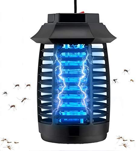 Koqit - Mosquitera eléctrica para mosquitos, protección contra golpes eléctricos, portátil contra mosquitos, polillas, moscas, mosquitos eléctricos inteligente para la cocina, el dormitorio, el jardín