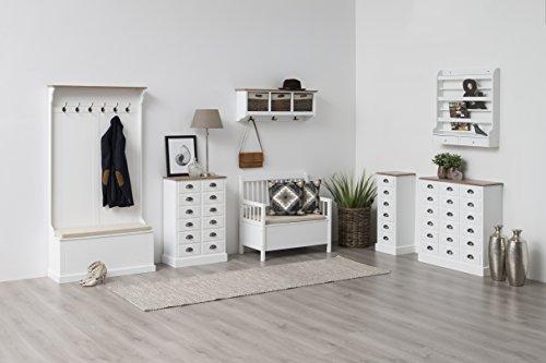 AC Design Furniture Bank Thomas, B: 90 x T:48 x H: 85 cm, MDF, Weiss - 4