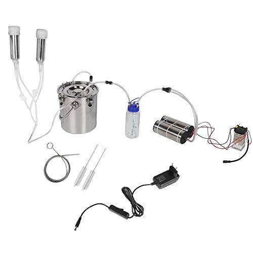 Impulsmelkmaschine, 5L Ziegenschaf-Kuh-Melkausrüstung Tragbare elektrische Impulsmelkmaschine(5#)