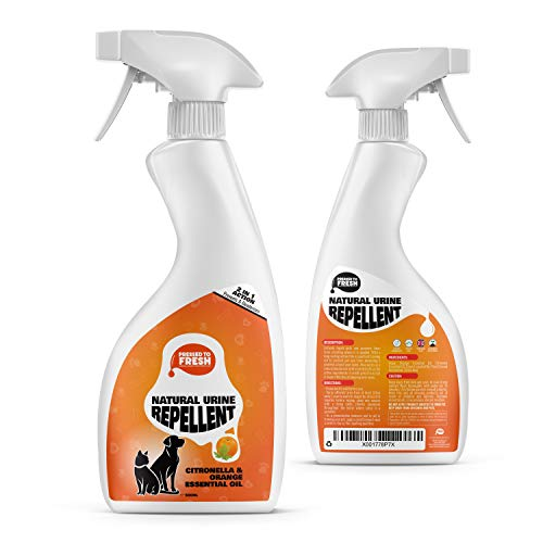 PRESSED TO FRESH – Urine Repellent, Deodoriser & Deterrent Spray – Prevents Pet Pee, Soiling and Marking Around Your Home and Garden – Natural Pet Safe Ingredients – 500ml