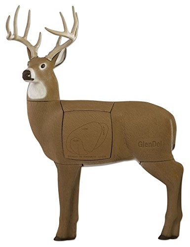 Field Logic GlenDel Full-Rut Buck 3D Archery Target with Replaceable Insert Core, GlenDel Full-Rut Buck w/4-sided insert, brown