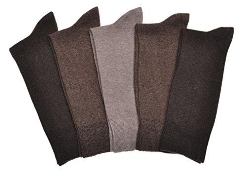 WB Socks 5 Paar Männersocken, Braun, Baumwolle
